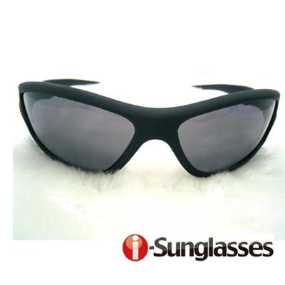 【i-SunGlasses】運動型抗UV400太陽眼鏡-黑色