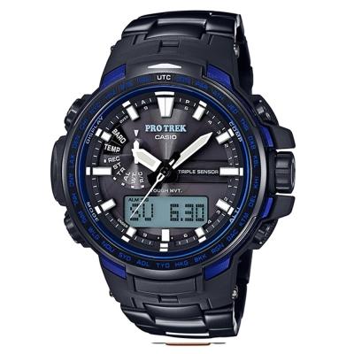 PROTREK 戶外行家新配備三大感應鈦合金複合式電波錶(PRW-6100YT-1B)深藍