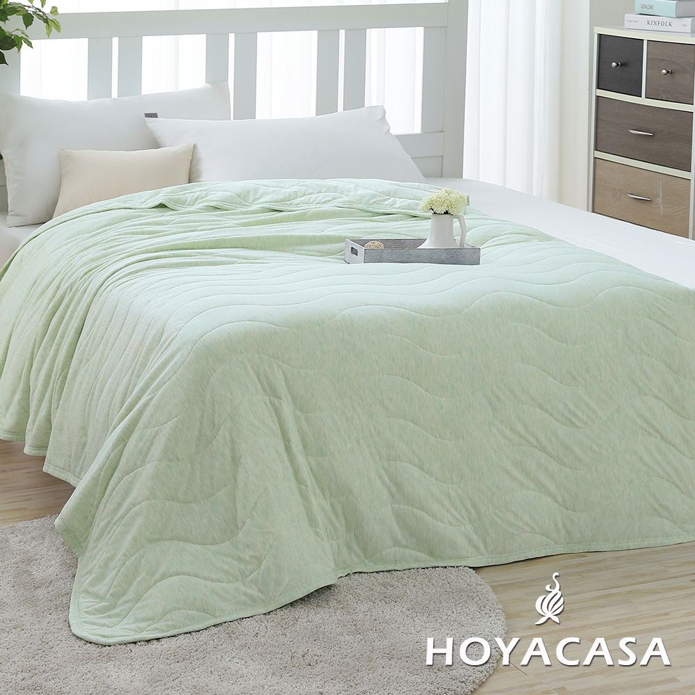 HOYACASA樂活主義 莫代爾針織涼感夏被-輕甜黃