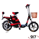 9I7 電動 48鉛酸 LED 輕便 腳踏助力 電動輔助自行車 黑紅