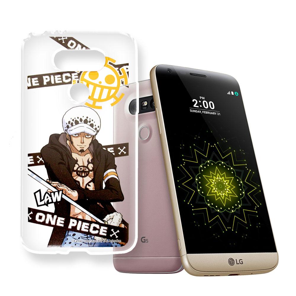 授權正版航海王 LG G5 / H860  透明軟式手機殼(封鎖羅)