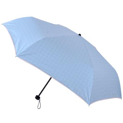2mm 色膠抗UV 彩點花邊輕量手開傘 (淺藍)