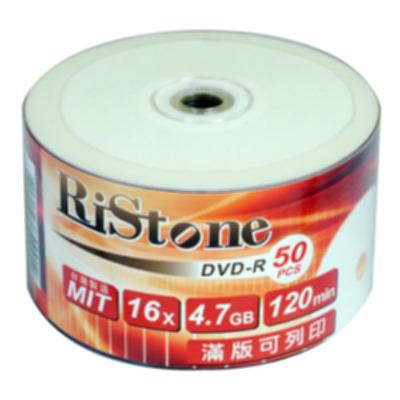 RiStone 日本版  DVD-R 16X  珍珠白可印片 裸裝 ( 300片 )