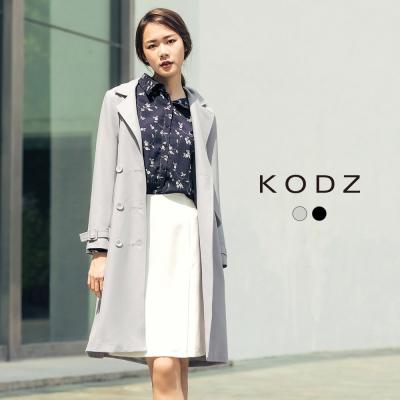 東京著衣-KODZ 歐美挺版雙排扣風衣外套-S.M.L(共二色)