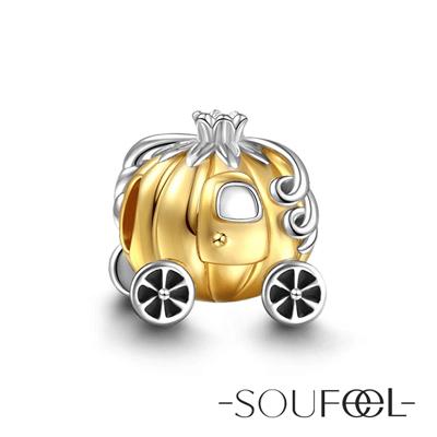 SOUFEEL索菲爾 925純銀珠飾 灰姑娘的南瓜車 串珠