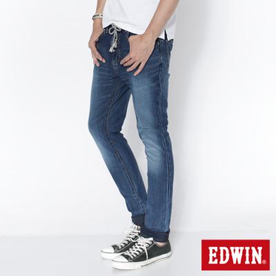 EDWIN-503迦績褲-JERSEYS圓織中直筒牛仔褲-男款-石洗綠