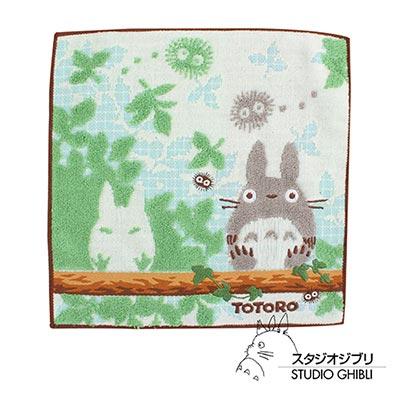 吉卜力-Totoro龍貓純棉小方巾-手帕-棕木森林