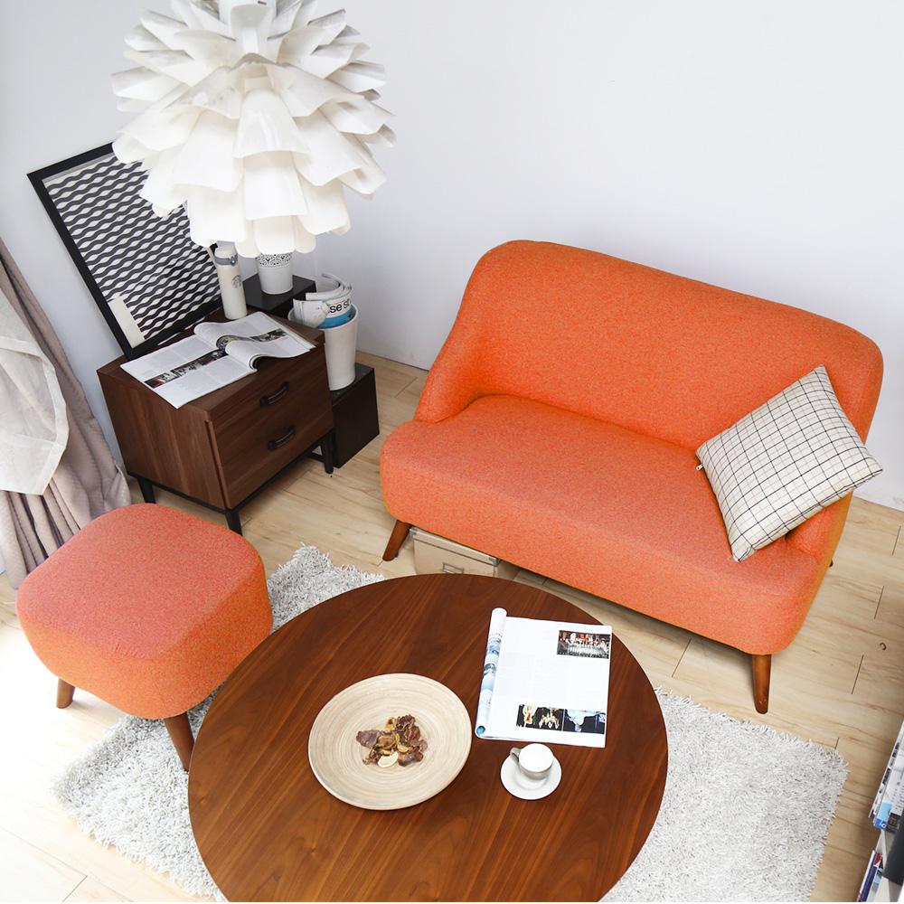 H&D Muffin濃情馬芬雙人+腳凳沙發組 多色