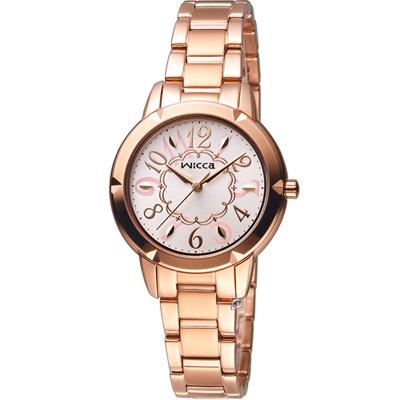 WICCA  愛莉絲夢遊仙境 時尚腕錶(BT2-769-11)-玫瑰金色/32mm
