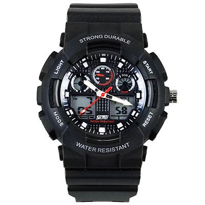 SKMEI 時刻美0909-雙機芯多功能防震防水電子錶 (3色任選)