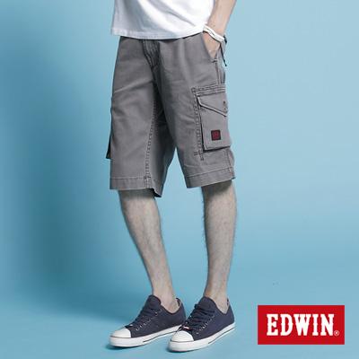 EDWIN-純粹夏日-KHAKI貼袋馬褲-男款-灰色