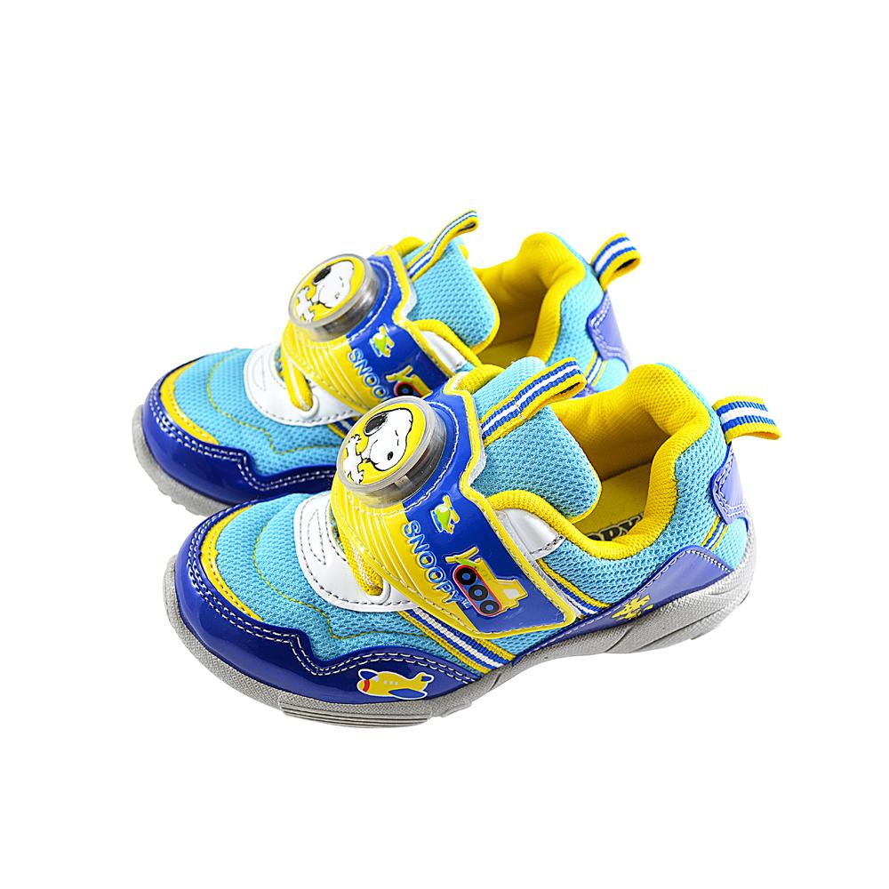 Snoopy史努比 透氣防臭鞋墊電燈運動休閒鞋-水藍 (17.0-23.0)