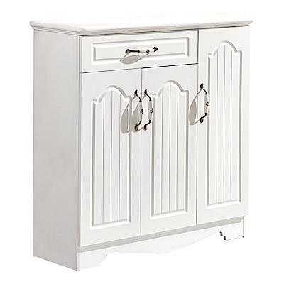 AT HOME-蕾拉北歐設計3.3尺白色鞋櫃(100*34*100cm)