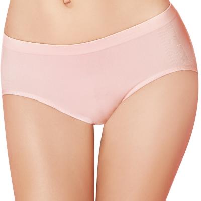 【思薇爾】I LOVE U冰咖啡紗系列M-XL素面低腰三角內褲(亮膚粉)