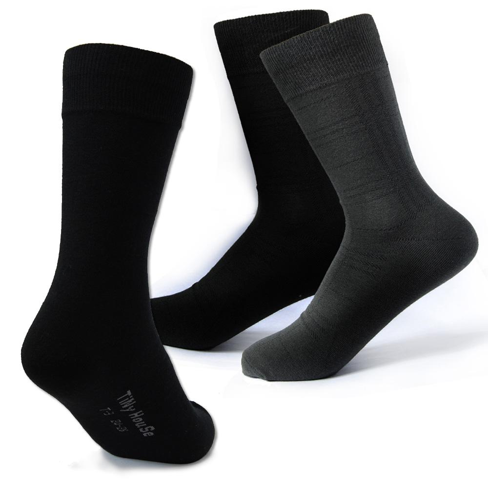 TiNyHouSe 舒適襪系列 薄型休閒襪 紳士襪6雙組(二色可選)
