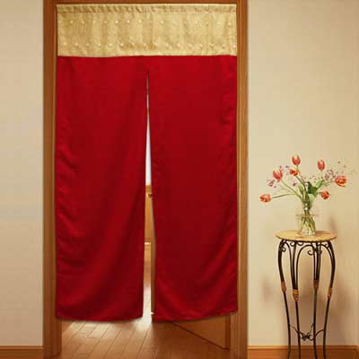 棉花田【晶喜鴻】亮紗刺繡好運門簾(85x150cm)