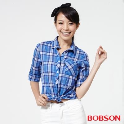 BOBSON  女款格子襯衫