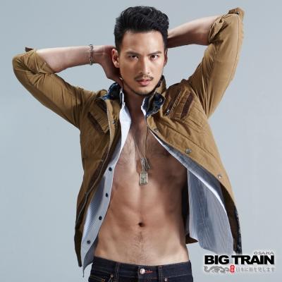 BIG-TRAIN-水洗麂皮棉外套-男-卡其