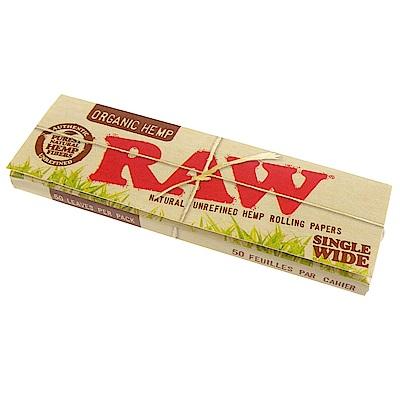 RAW 西班牙進口-ORGANIC HEMP SINGLE WIDE-有機麻天然捲煙紙*5