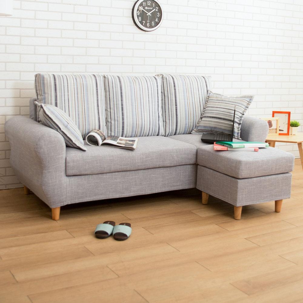 典雅大師 Gwen格文舒適L型沙發 多色