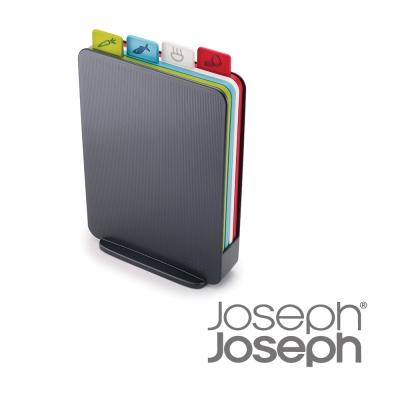 Joseph Joseph 檔案夾直立式砧板組(灰)