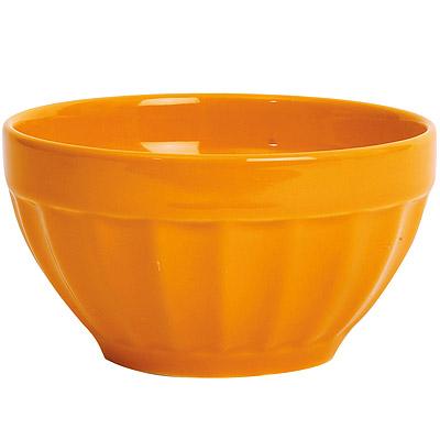 EXCELSA Fashion直紋陶餐碗(橘14cm)