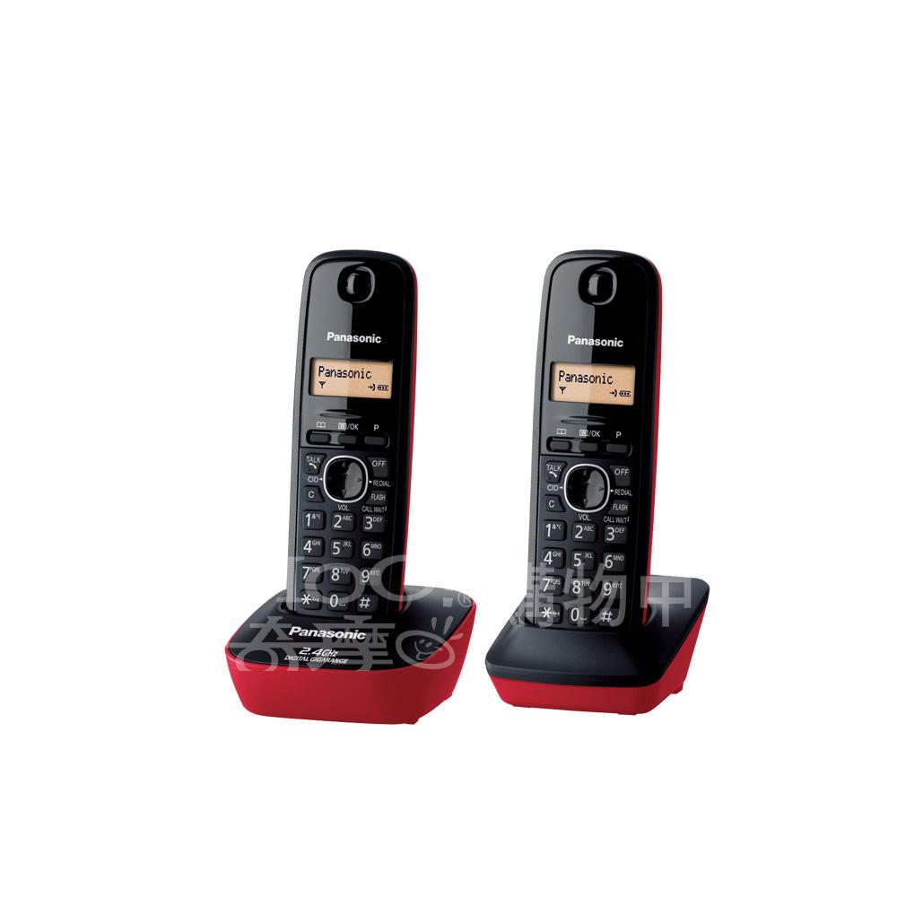 Panasonic 國際牌 2.4GHz 數位無線電話KX-TG3412(玫瑰紅)