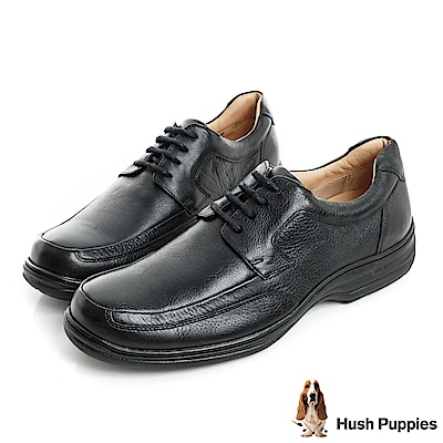 Hush Puppies BULLMATIAN 舒適紳士皮鞋-黑