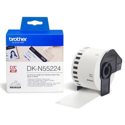 Brother DK-N55224 連續標籤帶( 54mm 白底黑字 )耐久型無黏性紙卷