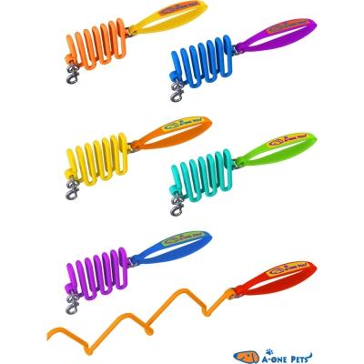A-ONE-PETS 自動伸縮矽膠拉繩 多種顏色任選 X 1入