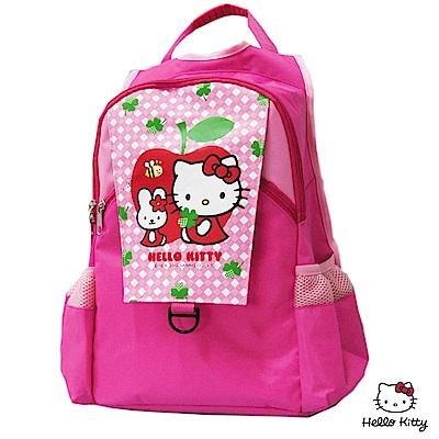 Hello Kitty 凱蒂貓 蘋果時尚雙層書背包