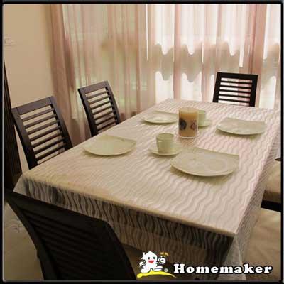 Homemaker-水流波紋桌巾 (長210cmX寬137cm)