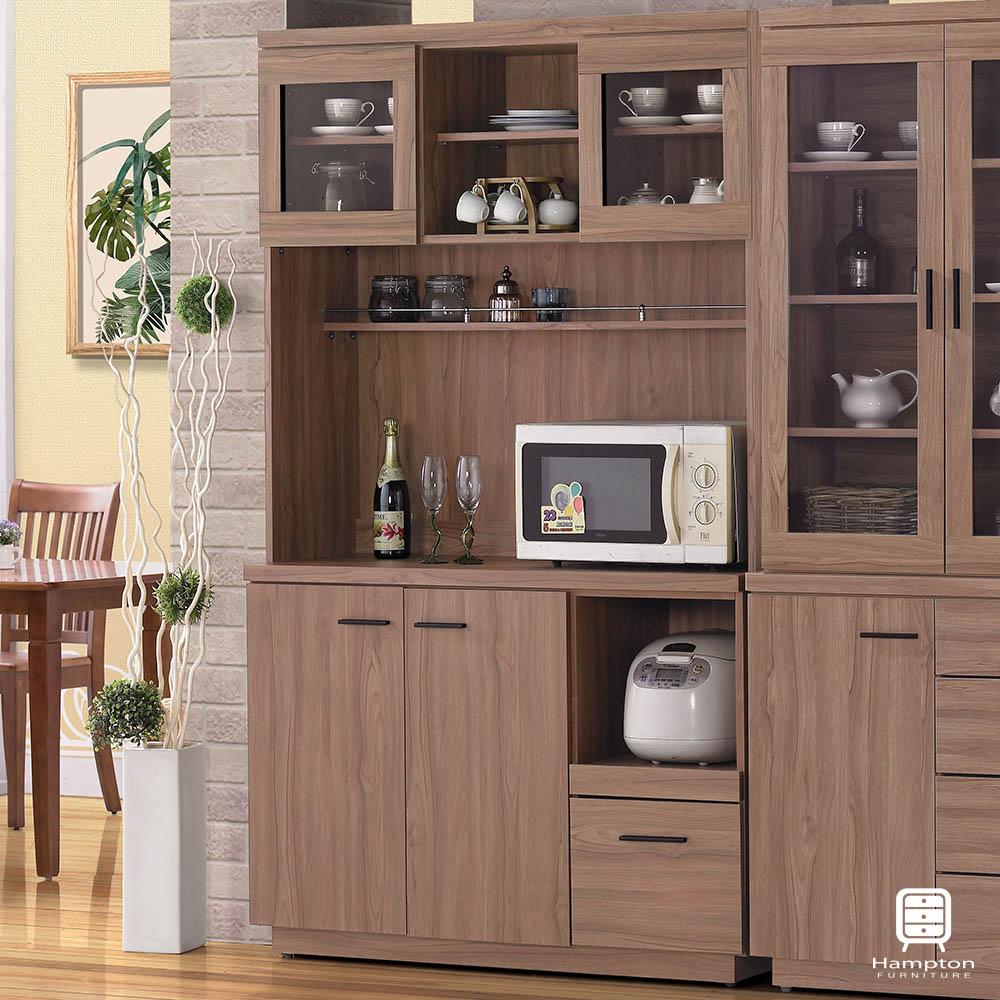 漢妮Hampton莫林系列4尺柚木色餐櫃(上座+下座)-121x46x200cm