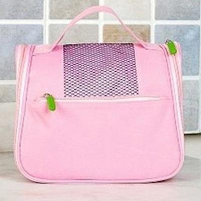 旅遊首選 網袋多功能懸掛洗漱包 盥洗包 收納包(粉紅)