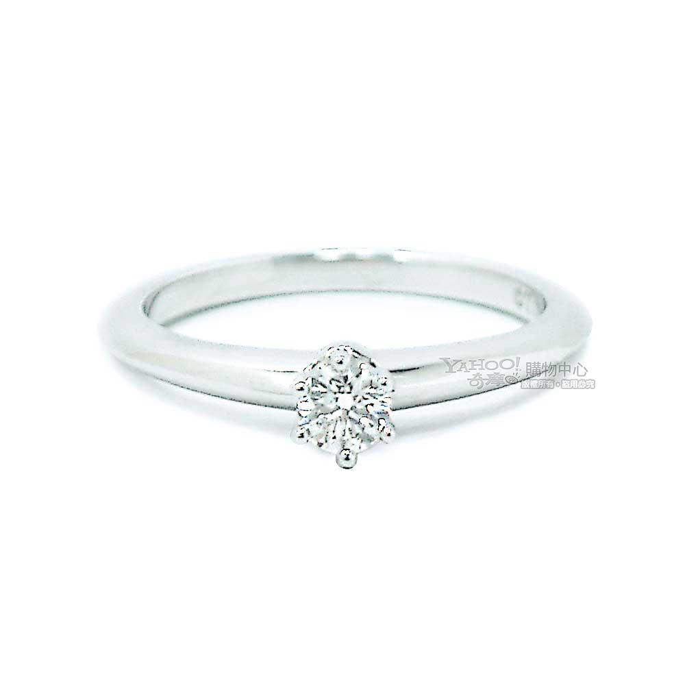 Tiffany&Co.Setting系列0.18克拉I等級VVS2六爪鑽戒6