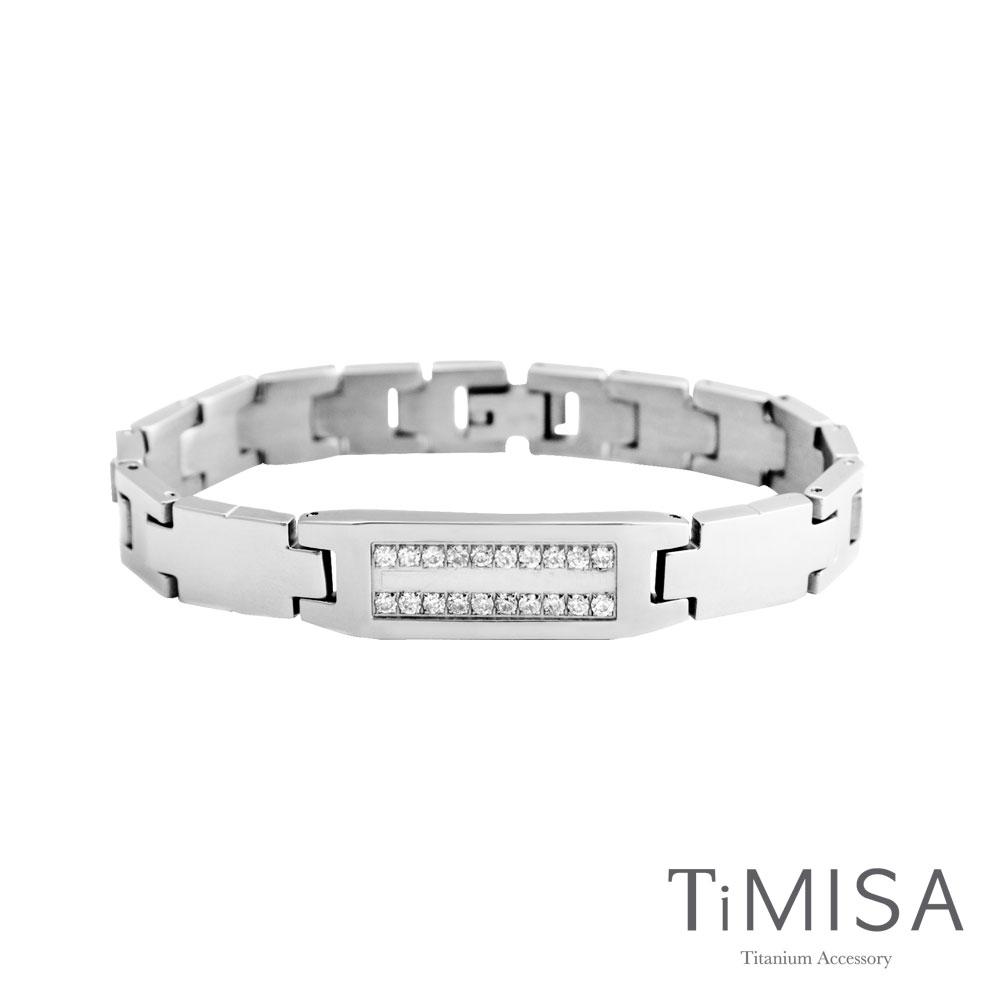 TiMISA《永恆真愛-寬版》純鈦鍺手鍊(兩色可選)