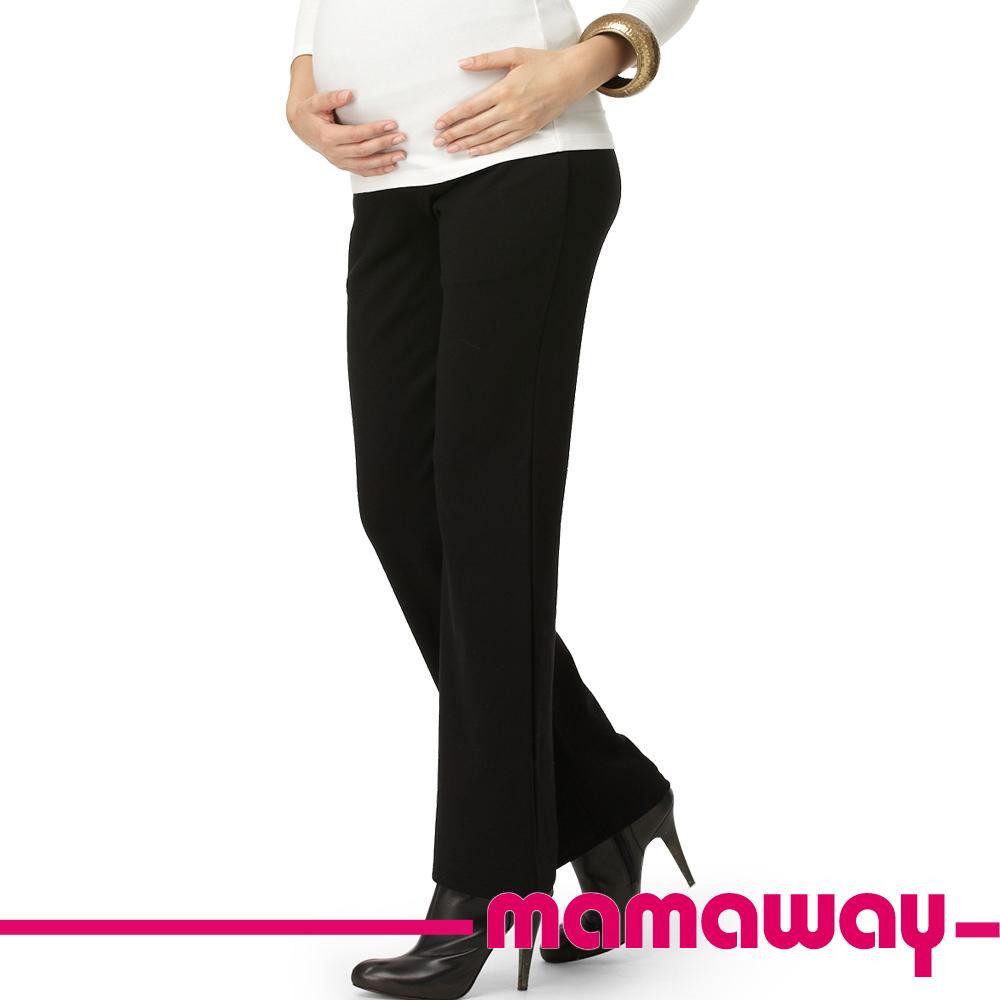【Mamaway】孕期直筒上班褲-羅馬布 (共二色)