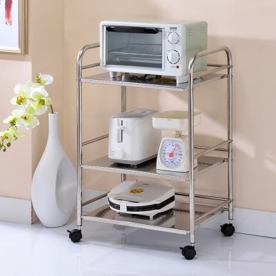 家可 多功能全不鏽鋼金屬三層烤箱架50x35x75cm
