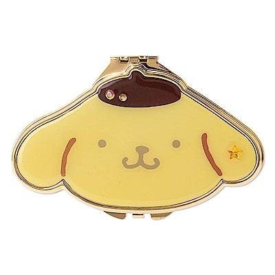 Sanrio 布丁狗大臉造型金色滾邊雙面鏡(星)