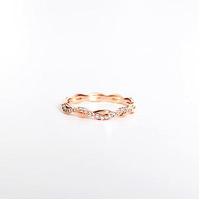 微醺禮物 戒指 正韓 純銀 鍍K金 鋯石 小無限 女戒