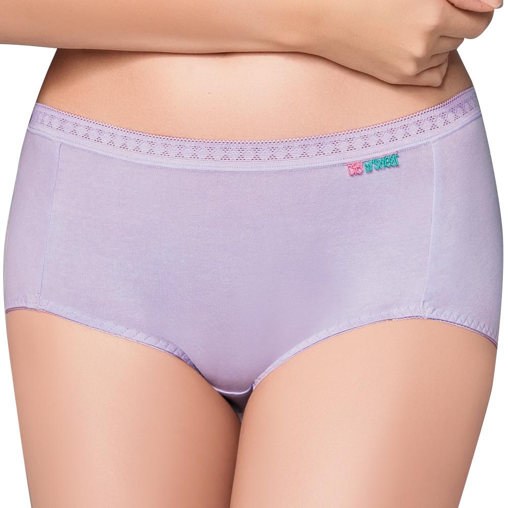 【思薇爾】柔感棉系列素面平口褲(花香紫)