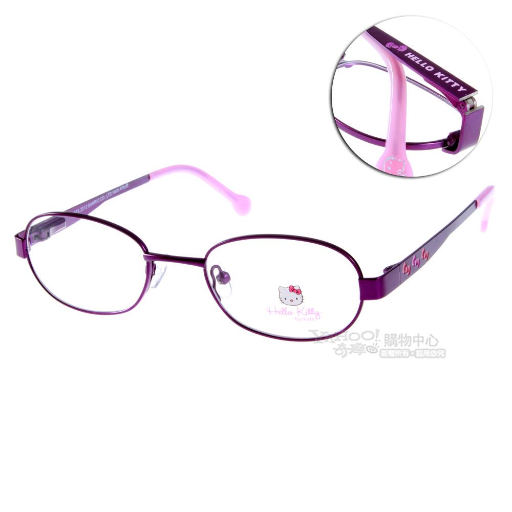 Hello Kitty兒童眼鏡 甜美蝴蝶結系列/經典深紫#HEMM048 C08 @ Y!購物