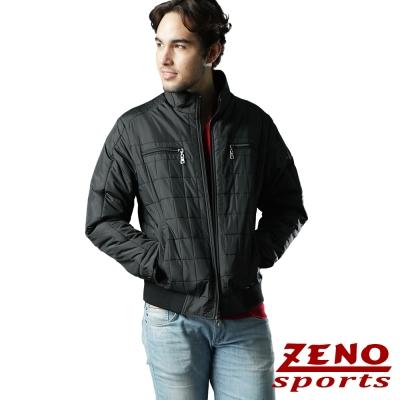 ZENO 保暖外套格紋韓風時尚款‧黑色