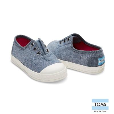 TOMS 牛仔帆布懶人鞋-幼童款