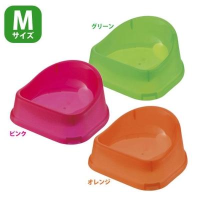 日本Richell 新一代預防溢出設計 塑膠飼料碗 Mx2入