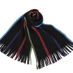 Paul Smith 素雅霓虹四色直條紋圍巾-黑