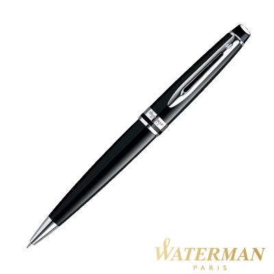 WATERMAN 權威系列 黑桿白夾 原子筆