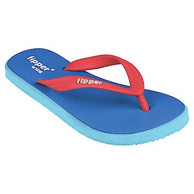 Fipper WIDE 天然橡膠拖鞋 BLUE-RED