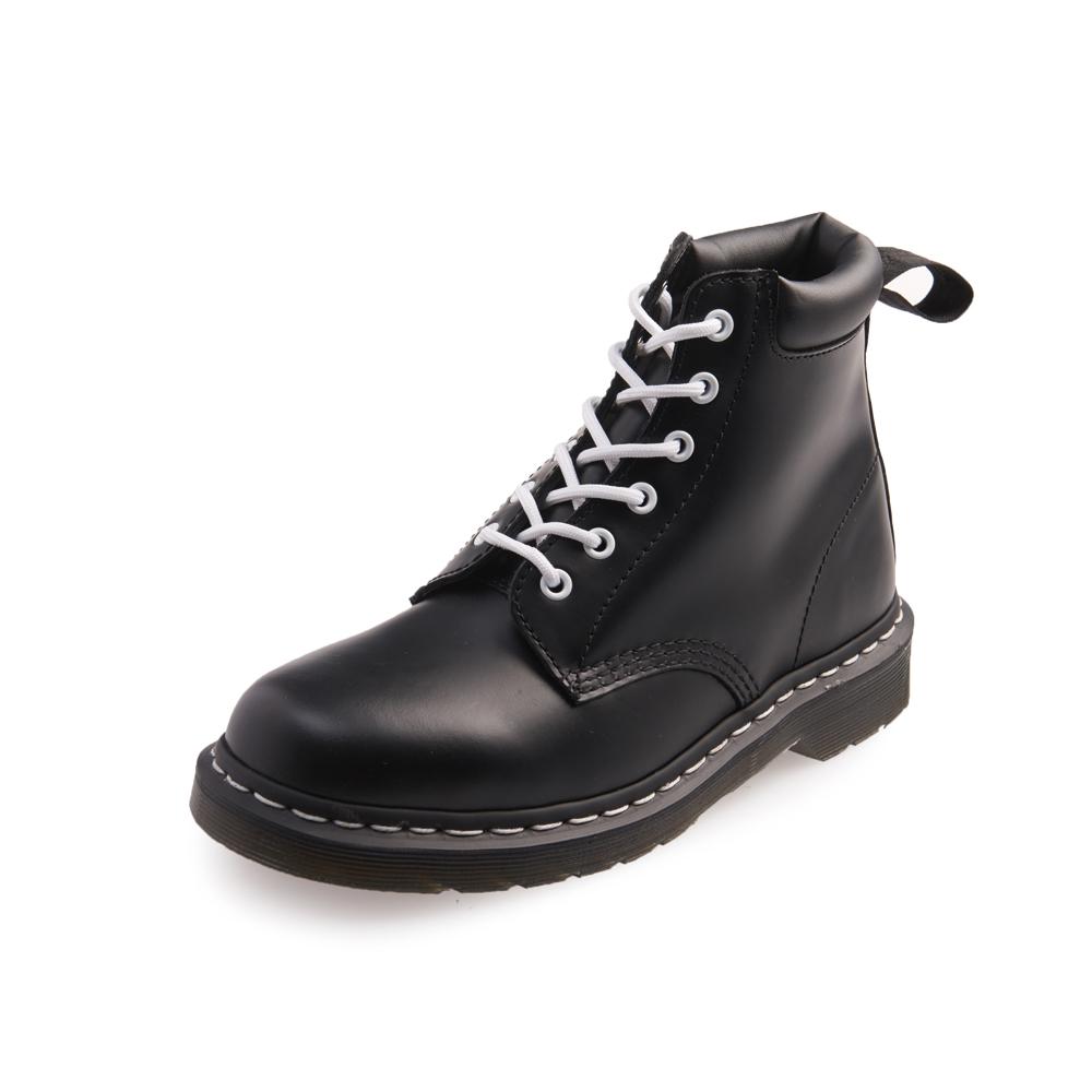 Dr.Martens-經典939 6孔亮皮馬汀馬丁靴-男款-黑