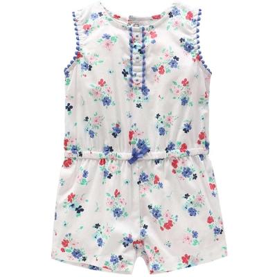 Carters 美國 白底紅藍花卉無袖連身褲